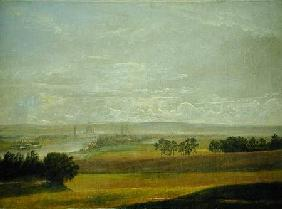 Dahl, Johan Christian Clausen : The Elbe Valley Near Dresd...