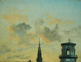 Dahl, Johan Christian Clausen : Two Towers in Copenhagen A...