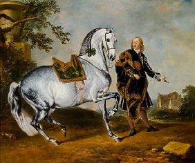 de Hamilton, Johann Georg : The dapple-gray horse Sarr...