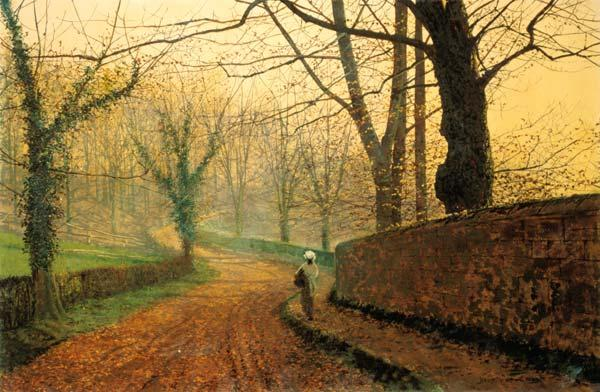 John Atkinson Grimshaw - Autumn in the Stapleton park.