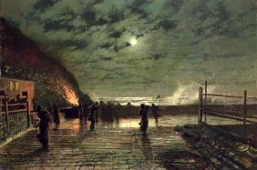 In Peril (The Harbour Flare) 1879 (oil on canvas)