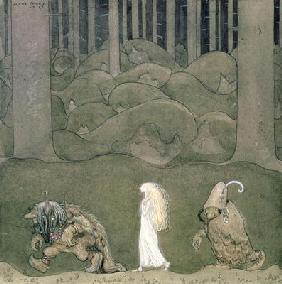 The Princess and the Trolls, 1913 (w/c on paper)