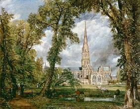 Constable, John : Salisbury Cathedral from t...