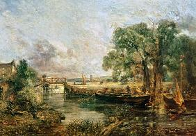 Sketch for 'View on the Stour near Dedham' 1821-22