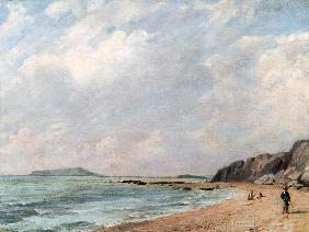 A View Of Osmington Bay, Dorset,  Looking Towards Portland Island