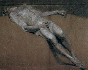 Study of a recumbent male nude