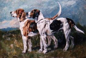 Pair of Foxhounds