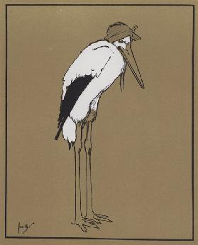 """But supposing the Stork has a sick headache?"" (colour litho)"