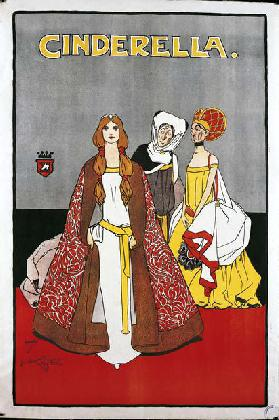 Cinderella, 1900 (colour litho)