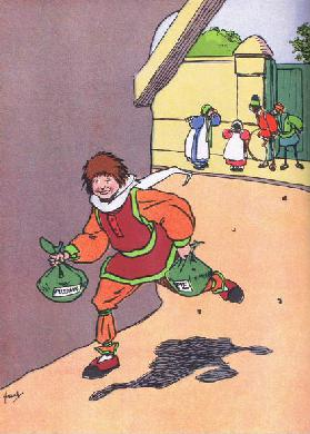 Georgey Porgey ran away, from Blackies Popular Nursery Rhymes published by Blackie and Sons Limited,