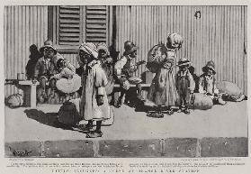 Little Refugees, a Scene at Orange River Station (litho)