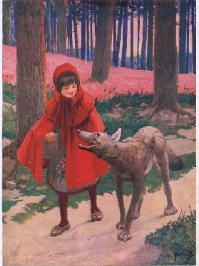 Little Red Riding Hood, c.1905 (colour litho)