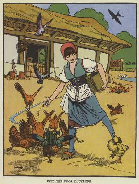 Pity the poor duckling! (colour litho)