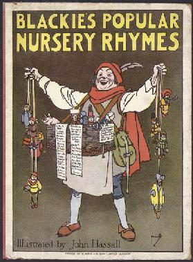 Cover illustration for Blackies Popular Nursery Rhymes (colour litho)