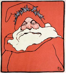 Father Christmas, cover of The Favourite, 1899 (colour litho)