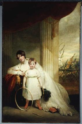 Portrait of the Mrs.Grenfell with her son