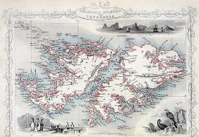 Falkland Islands and Patagonia, from a Series of World Maps published by John Tallis & Co., New York