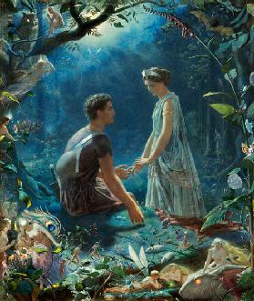 Hermia and Lysander. A Midsummer Night's Dream