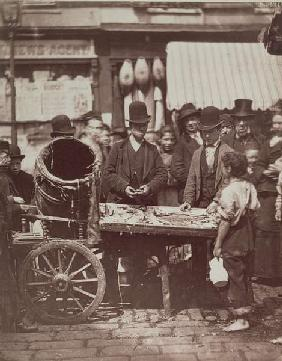 Cheap Fish of St. Giles, from ''Street Life in London'', 1877-78 (woodburytype)