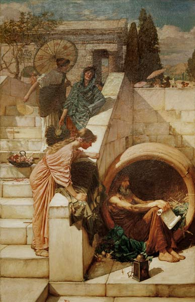Diogenes Painting By J W Waterhouse John William