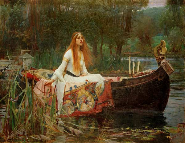 the lady of shalott john william waterhouse as art print or hand painted oil. Black Bedroom Furniture Sets. Home Design Ideas