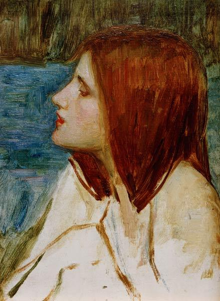 J.W.Waterhouse / Head of a Girl