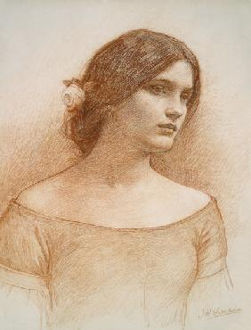 Waterhouse, John William : Study for 'The Lady Clare'