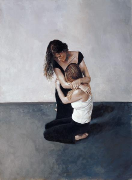 Holding (oil on canvas)