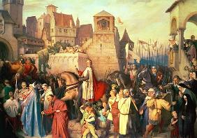 Duke Leopold the Glorious (1176-1230) enters Vienna on his return from the Crusades