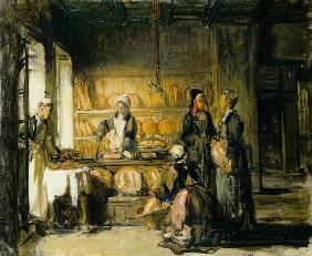 Interior of a Breton Boulangerie, c.1906 (oil on canvas)
