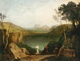 Turner, William : Aeneas and the Sibyl, Lake...