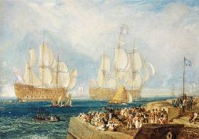 Turner, William : Plymouth Harbour: Towing I...