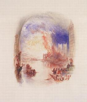 The Burning of the Houses of Parliament (w/c on paper)