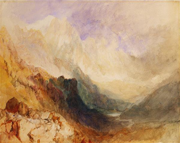 Turner, William : View along an Alpine Valle...