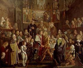The reconciliation of Ludwig of the Bavarian with Friedrich the beautiful