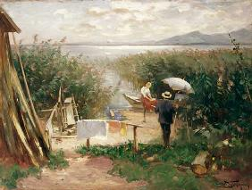 Painter on the Chiemsee shore
