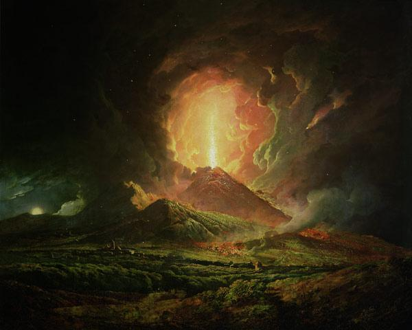 An Eruption of Vesuvius, seen from Portici
