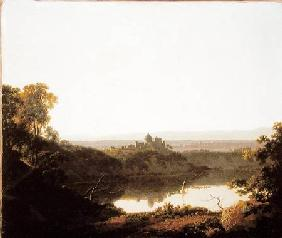 Wright of Derby, Joseph : Lake Nemi with a view of C...