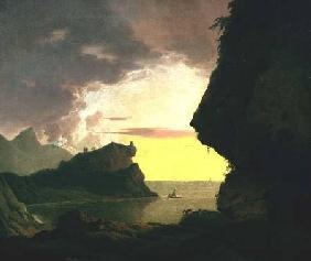 Wright of Derby, Joseph : Sunset on the Coast near N...