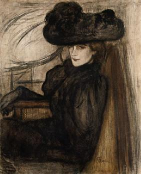 Rippl-R�nai, J�zsef : Lady with a black veil (Mm...