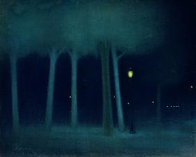 Rippl-R�nai, J�zsef : A Park at Night, c.1892-95...