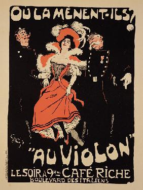 Reproduction of a poster advertising the 'Cafe Riche', Boulevard des Italiens