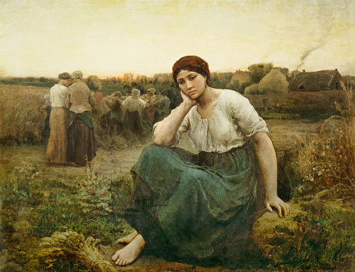Evening Jules Breton As Art Print Or Hand Painted Oil