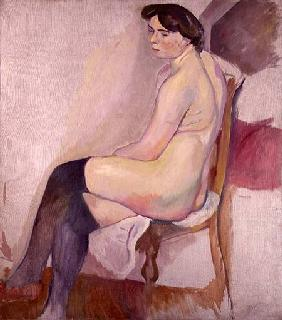 Pascin, Jules : Nude with Black Stockings