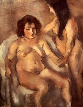 Pascin, Jules : Two Nude Women (The Bordel...
