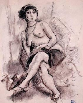 Pascin, Jules : Seated Nude Model