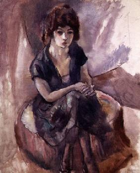 Pascin, Jules : Seated Young Woman