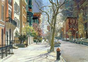 East 70th Street, New York, 1996 (oil on canvas)