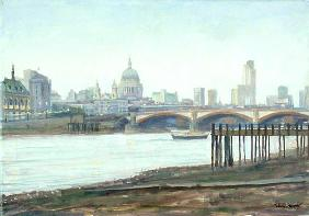 Bankside - Dusk (oil on canvas)