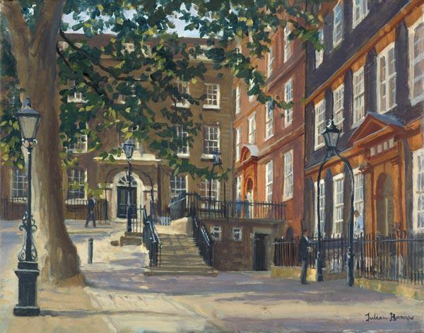 Kings Bench Walk, Inner Temple (oil on canvas)